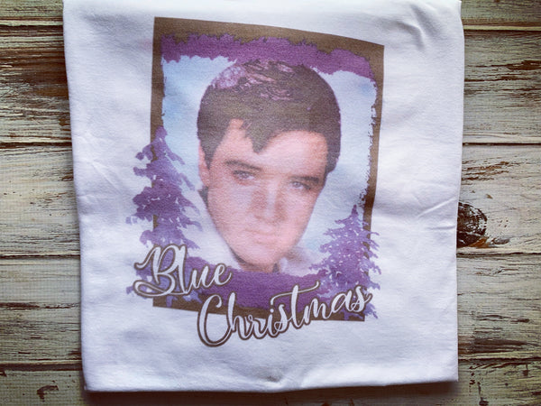 Elvis Blue Christmas Shirt