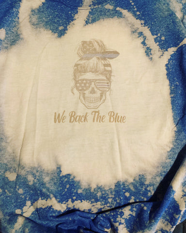 We Back The Blue Bleached Shirt