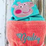 Peppa Pig Hooded Towel