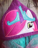 My Little Pony Celestia unicorn hooded towel