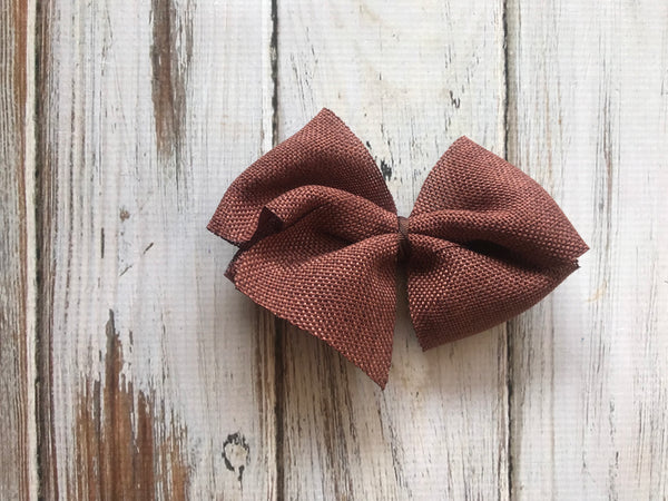 Brown Burlap medium bow