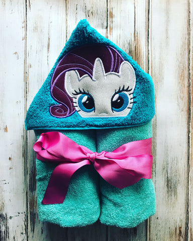 My Little Pony Rarity Unicorn Hooded Towel
