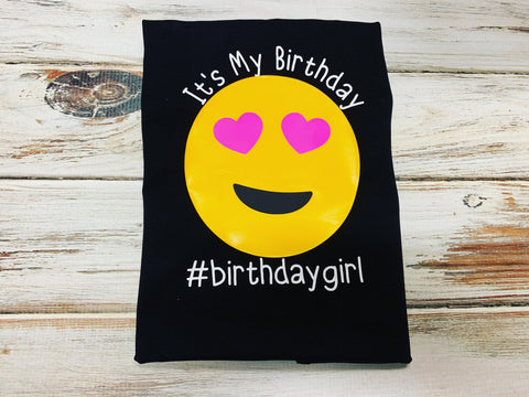 Emoji Birthday Shirt, birthday girl shirt