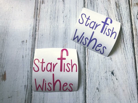 Star Fish Wishes vinyl decal
