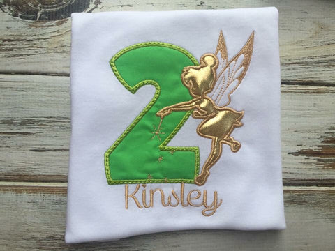 Tinker Bell 2nd Birthday shirt