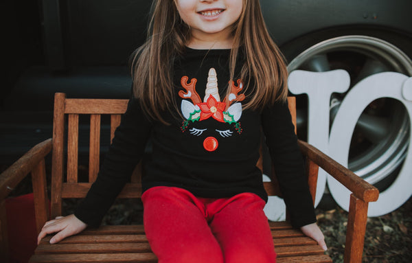 Christmas Unicorn Reindeer Shirt