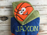 Basketball hooded towel