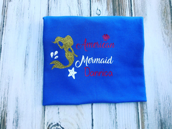 4th Of July American Mermaid Shirt or bodysuit