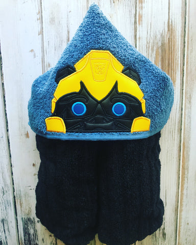 Transformer Bumble Bee Hooded Towel