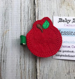 Apple  Feltie Hair Clip