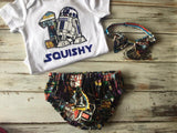 3 piece Star Wars Smash Cake outfit