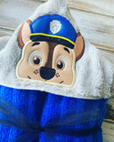 Paw Patrol Chase Hooded Towel