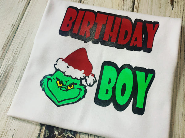 Grinch Birthday Boy Shirt