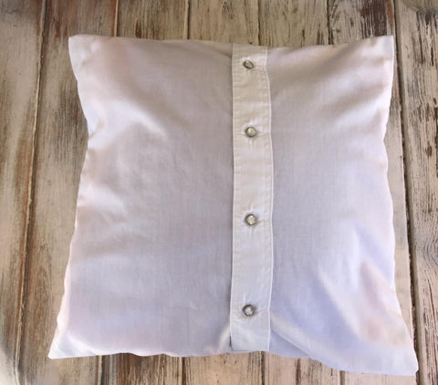 Button Up Shirt Made Into A Pillow Cover BabyBirdsCloset Best Button Up Shirt Pillow Covers