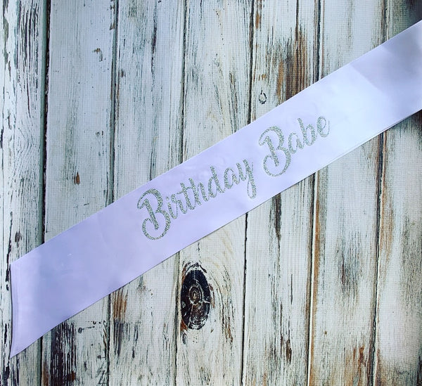 Custom birthday Sash