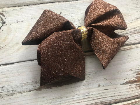 Large Brown Glitter Bow