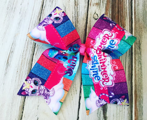 Shimmer and Shine Cheer Bow