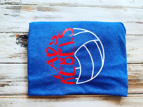 Lady Rebels Volleyball shirt With Name/number on back
