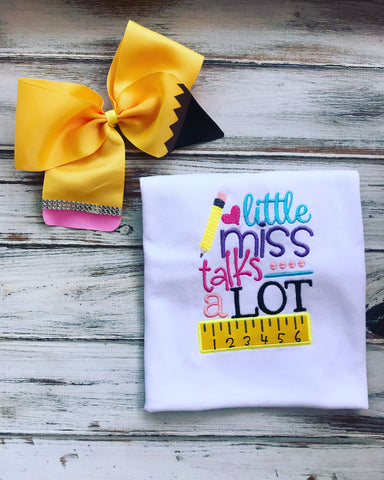Little Miss Talks A Lot shirt