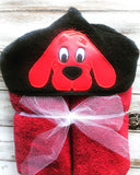 Clifford the dog hooded towel