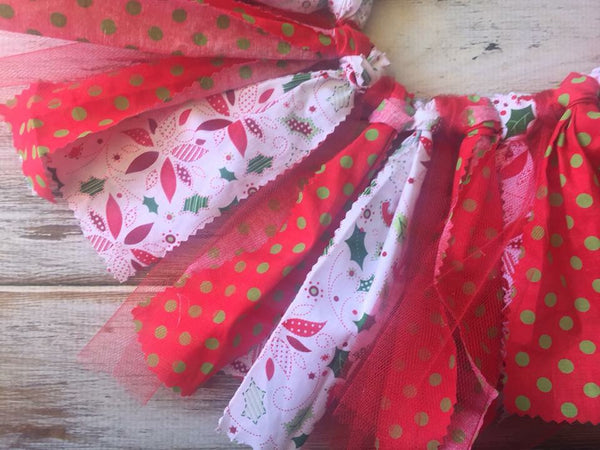 Christmas fabric and tulle tutu