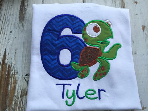 Turtle Squirt Birthday Shirt