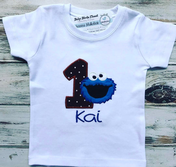 Cookie Monster 1st Birthday Shirt