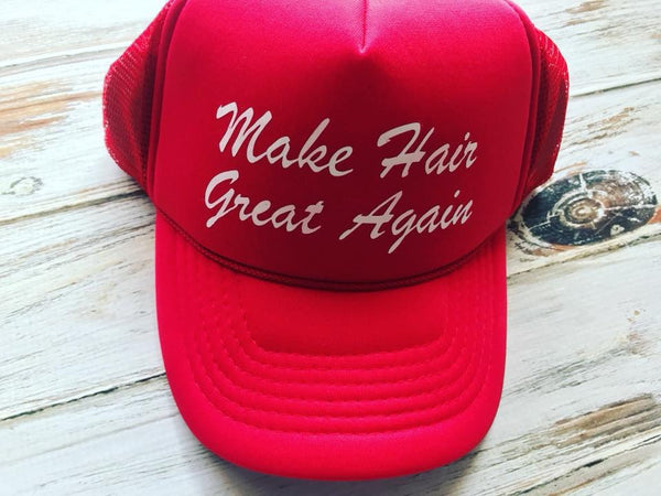 Monat trucker hat, Make Hair Great Again Hat