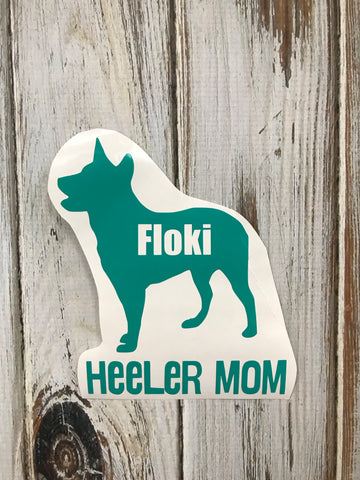 Heeler Mom vinyl decal