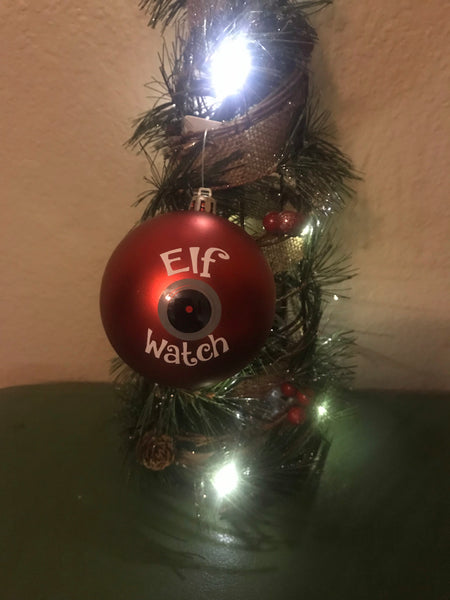Red Elf Camera Ornament