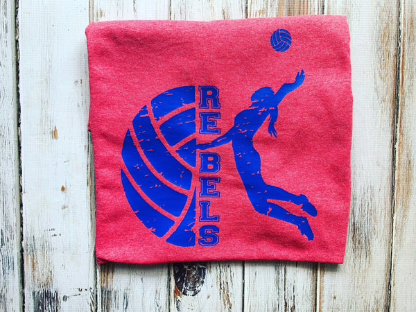 Rebels Volleyball shirt Front only