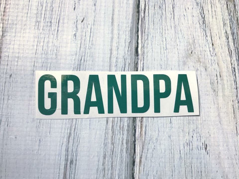 Grandpa vinyl decal
