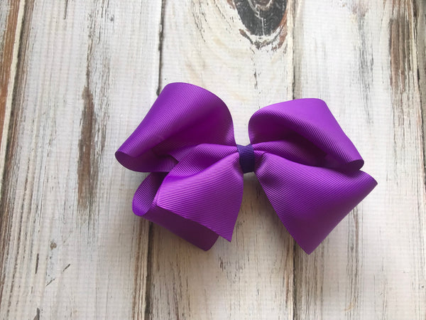 Purple medium bow