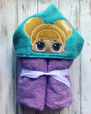 LOL Doll hooded towel Queen Bee