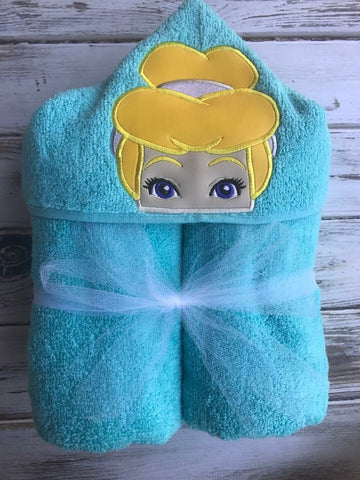 Cinderella hooded towel, princess towel, custom towel