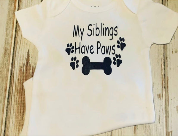My Siblings Have Paws bodysuit