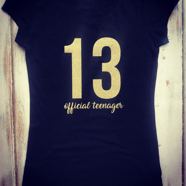 Official Teenager birthday shirt