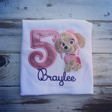 Paw Patrol Skye Birthday Shirt