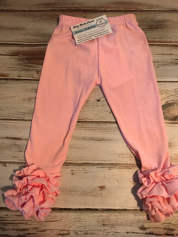 Light Pink Ruffle Icing  leggings