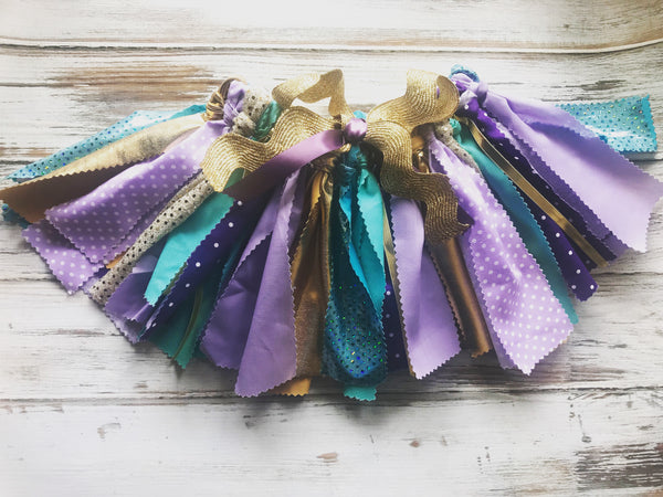 Fabric tutu, lavender, purple and Aqua tutu