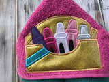 Crayon Box Hooded Towel