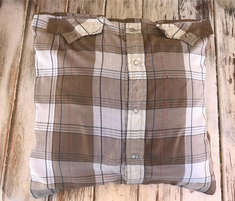 Button Up Shirt Made Into A Pillow Cover BabyBirdsCloset Classy Button Up Shirt Pillow Covers
