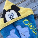 Mickey Mouse hooded towel