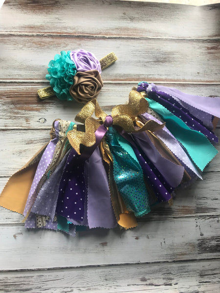 Fabric tutu and matching Headband
