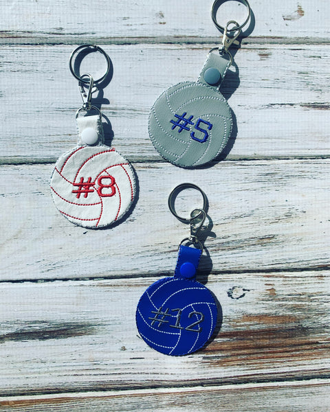Volleyball Keychain personalized