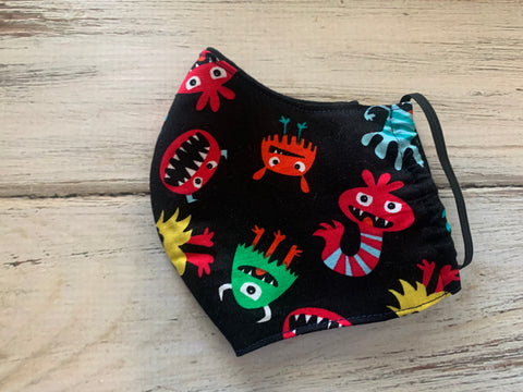 Kids 3-7 year old Sized Monster Face Mask