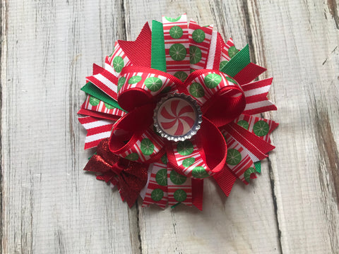 Christmas Bow 4 1/2 inches