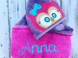 Owl Hooded Towel