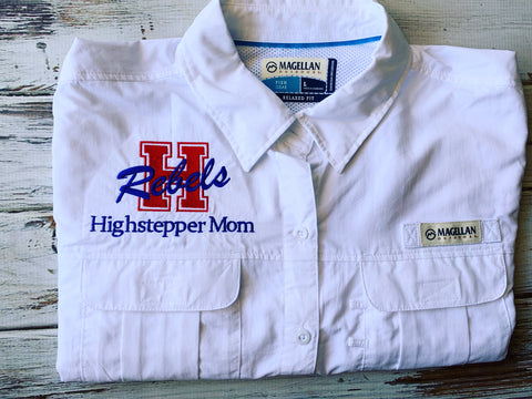 Hays HS High Stepper Mom Embroidered Logo