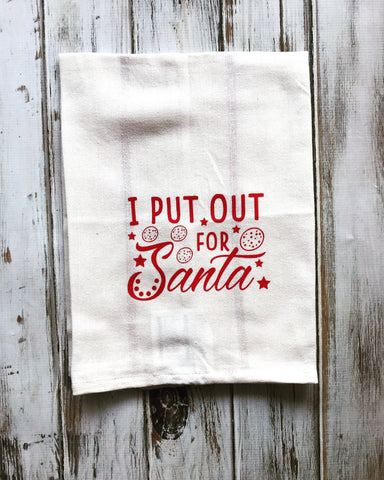 I put out for Santa dish towel